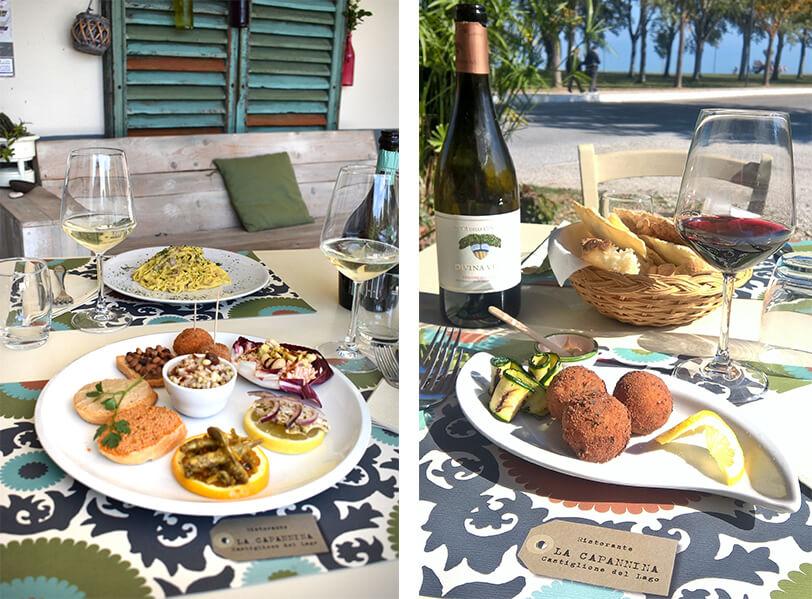 Menu ristorante la Capannina - Castiglione del Lago